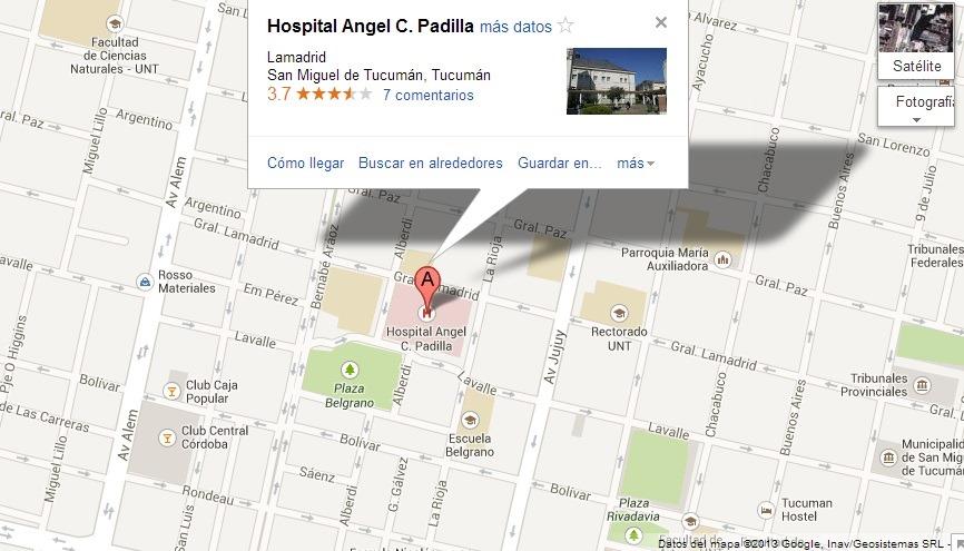 El hospital padilla de tucum n hace an lisis contra la - Hospital de la paz como llegar ...